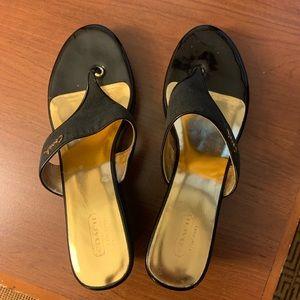 Coach Felecia Black Wedge Style Sandal-10
